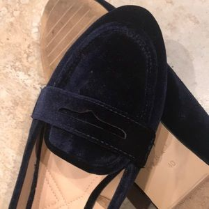 Zara Loafer Flat Swede/Leather women's size 40